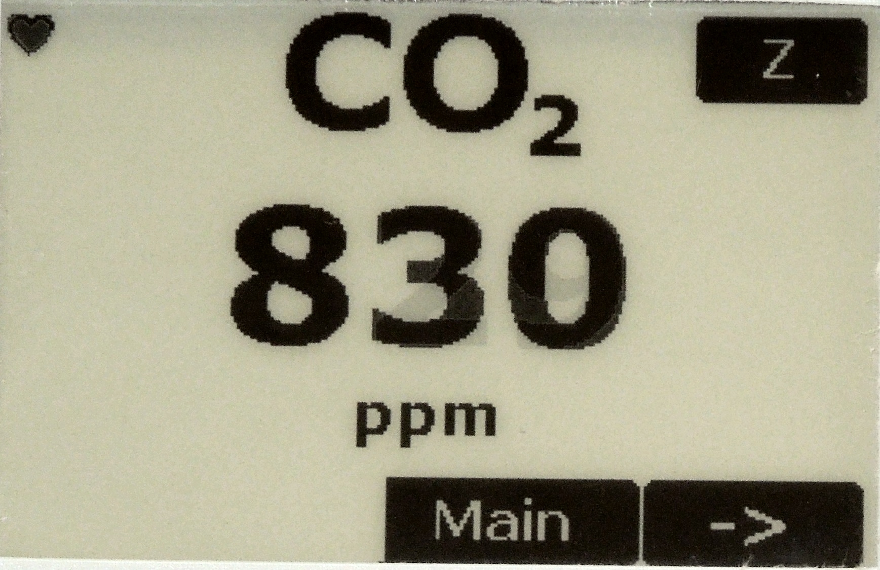Main Measurement Screen