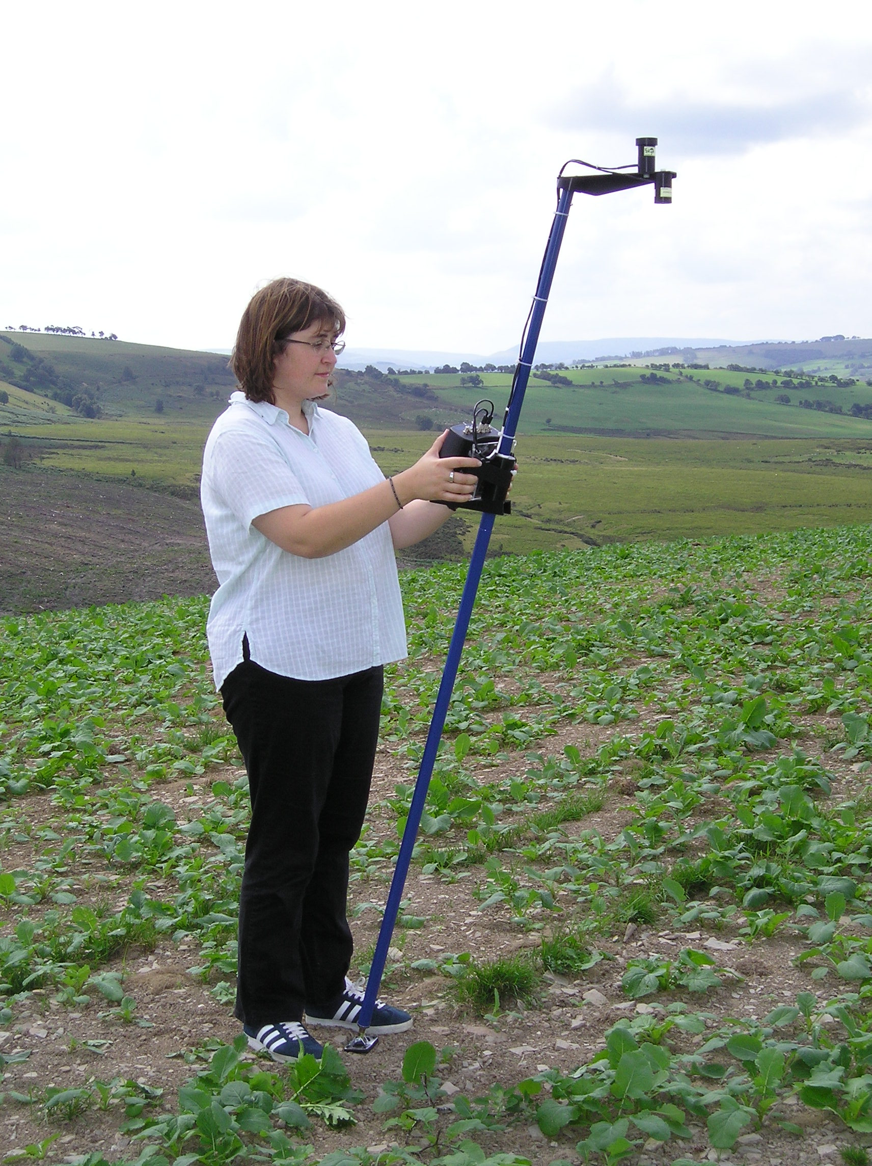 NDVI measurements with the Skye SpectroSense 2+ Meter and light sensors
