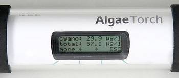 Close-up of AlgaeTorch LCD