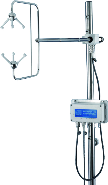 3-axis horizontal-head research anemometer